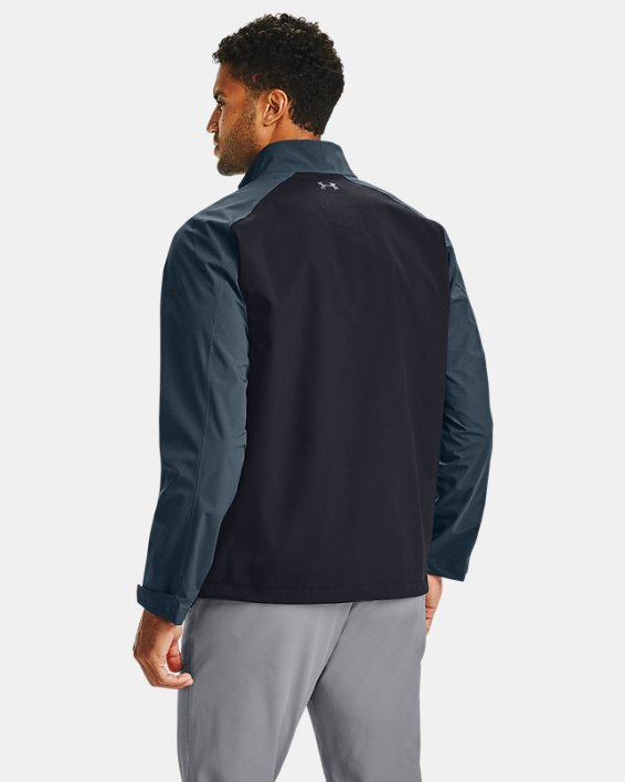 Men's UA Golf Rain Jacket, Black, pdpMainDesktop image number 2