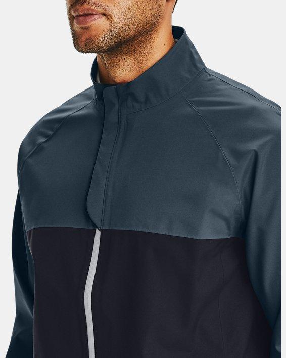 Men's UA Golf Rain Jacket, Black, pdpMainDesktop image number 5