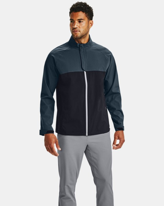 Men's UA Golf Rain Jacket, Black, pdpMainDesktop image number 0