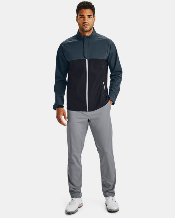 Men's UA Golf Rain Jacket, Black, pdpMainDesktop image number 1
