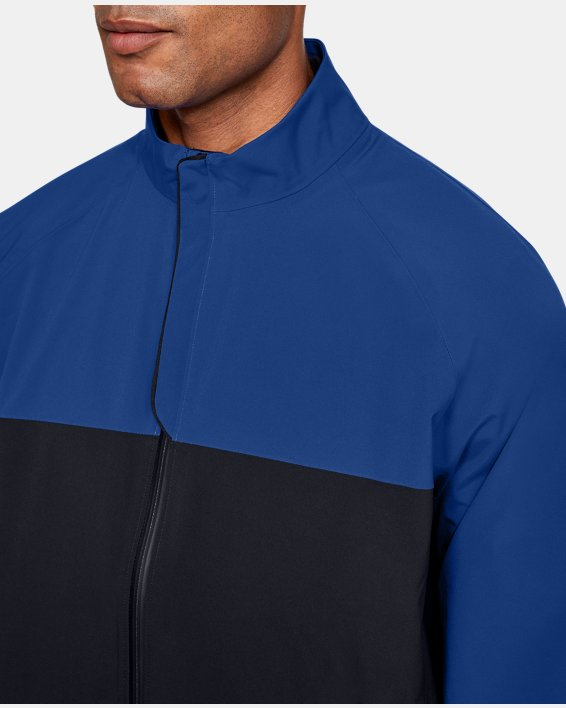 Men's UA Golf Rain Jacket, Blue, pdpMainDesktop image number 5