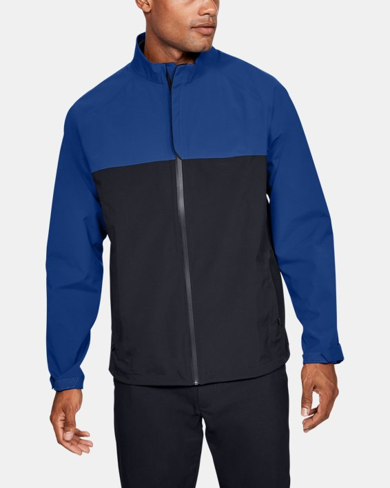 Men's UA Golf Rain Jacket, Blue, pdpMainDesktop image number 0