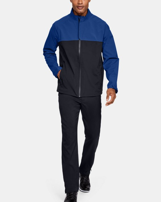 Men's UA Golf Rain Jacket, Blue, pdpMainDesktop image number 1