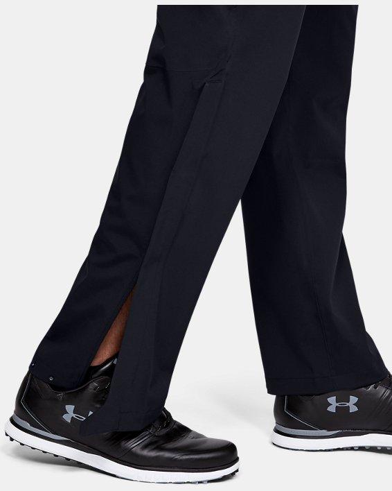 Men's UA Golf Rain Pants, Black, pdpMainDesktop image number 5