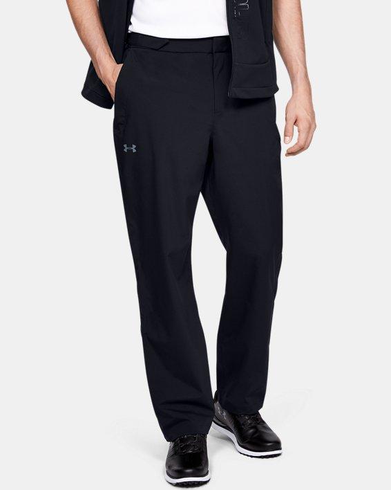 Pantalon imperméable UA Golf pour homme, Black, pdpMainDesktop image number 0