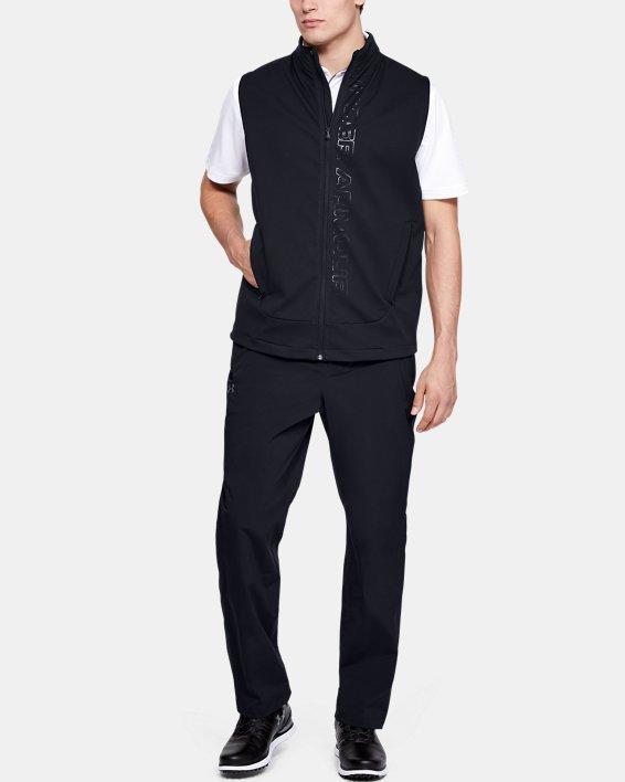 Pantalon imperméable UA Golf pour homme, Black, pdpMainDesktop image number 1