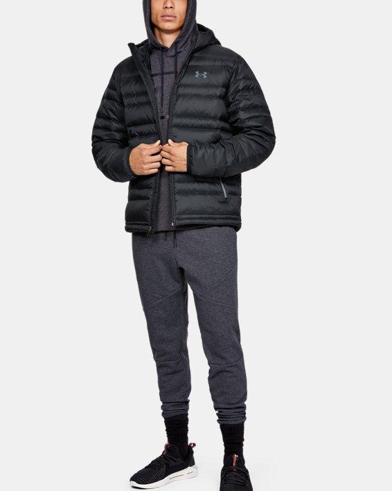 Men's UA Armour Down Hooded Jacket, Black, pdpMainDesktop image number 0