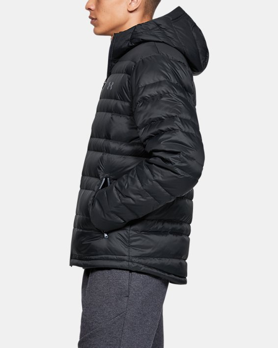 Men's UA Armour Down Hooded Jacket, Black, pdpMainDesktop image number 3