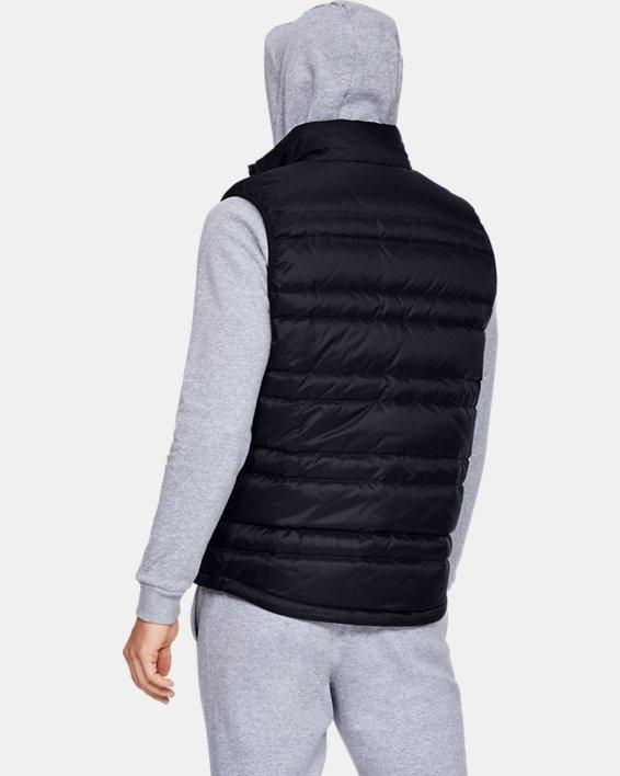 Men's UA Armour Down Vest, Black, pdpMainDesktop image number 2