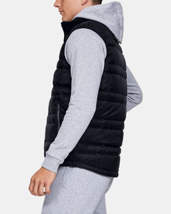 Men's UA Armour Down Vest, Black, pdpMainDesktop image number 3