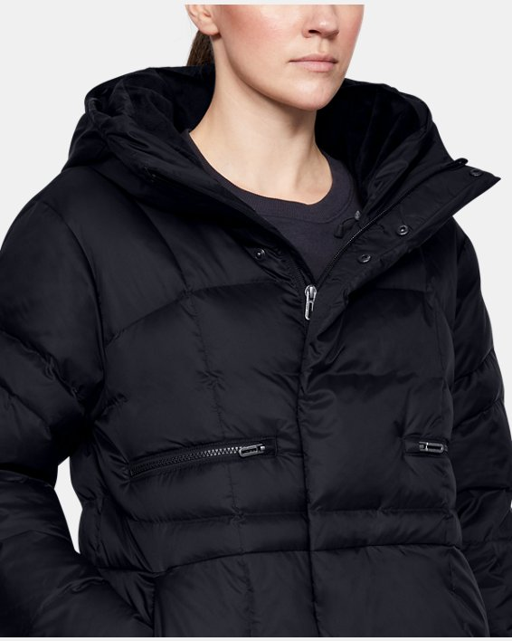Women's UA Armour Down Parka, Black, pdpMainDesktop image number 5