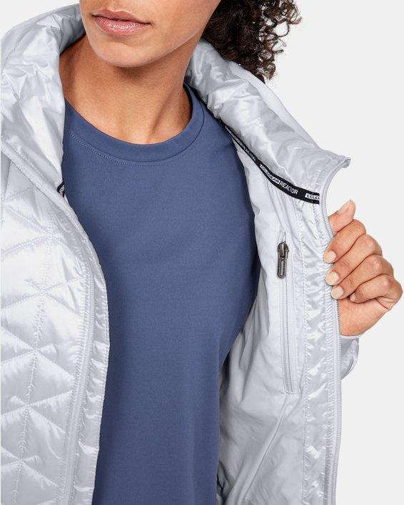 Women's ColdGear® Reactor Performance Jacket, White, pdpMainDesktop image number 5