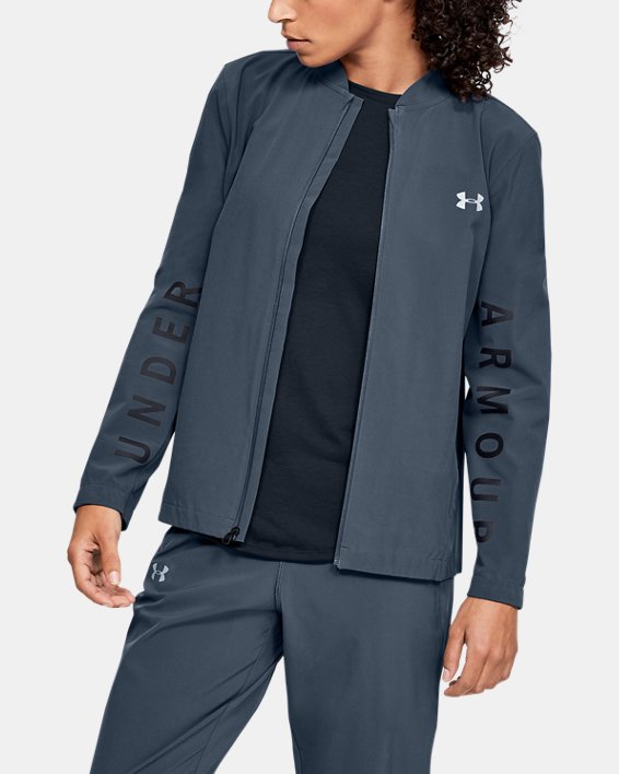 Women's UA Storm Launch Linked Up Jacket, Gray, pdpMainDesktop image number 0