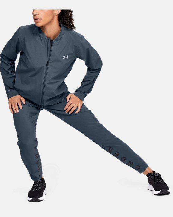 Women's UA Storm Launch Linked Up Jacket, Gray, pdpMainDesktop image number 1