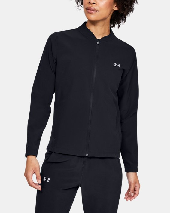 Women's UA Storm Launch Jacket, Black, pdpMainDesktop image number 0