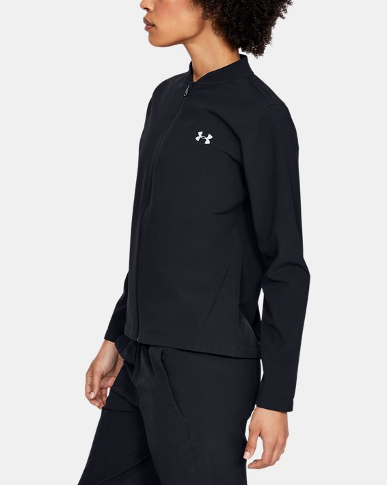 Women's UA Storm Launch Jacket, Black, pdpMainDesktop image number 3