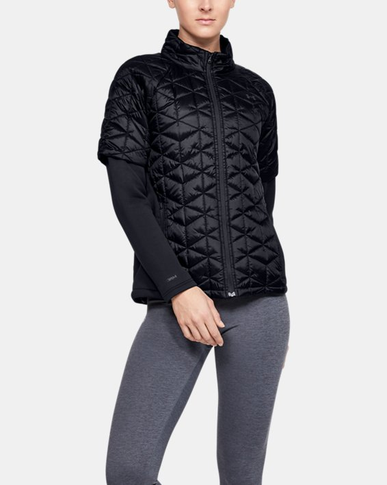 Women's ColdGear® Reactor Golf Hybrid Jacket, Black, pdpMainDesktop image number 2