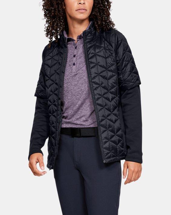 Women's ColdGear® Reactor Golf Hybrid Jacket, Black, pdpMainDesktop image number 0