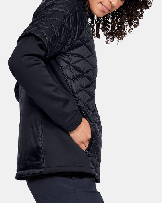 Women's ColdGear® Reactor Golf Hybrid Jacket, Black, pdpMainDesktop image number 4