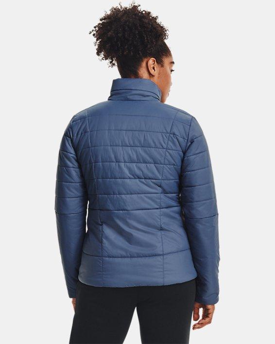 Women's UA Armour Insulated Jacket, Blue, pdpMainDesktop image number 2
