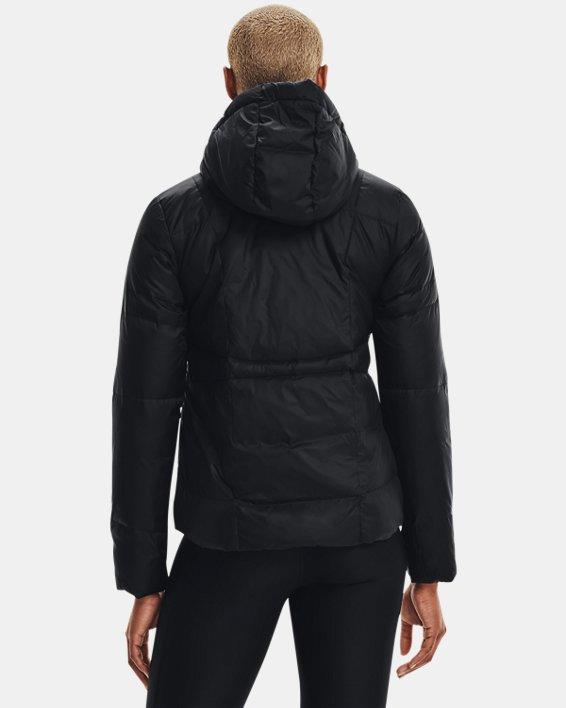 Women's UA Armour Down Hooded Jacket, Black, pdpMainDesktop image number 3