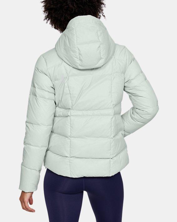 Women's UA Armour Down Hooded Jacket, Gray, pdpMainDesktop image number 2