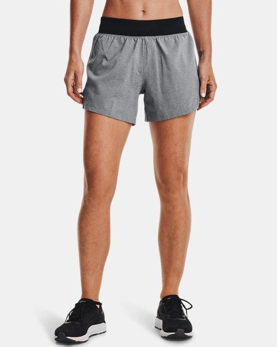 Women's UA Launch SW ''Go Long'' Shorts, Black, pdpMainDesktop image number 2