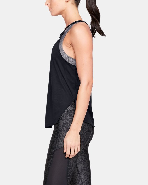 Women's UA Speed Stride Tank, Black, pdpMainDesktop image number 3