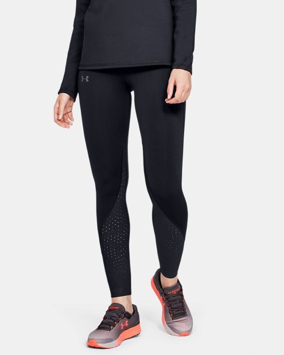 Women's UA Qualifier Speedpocket ColdGear® Tights, Black, pdpMainDesktop image number 1