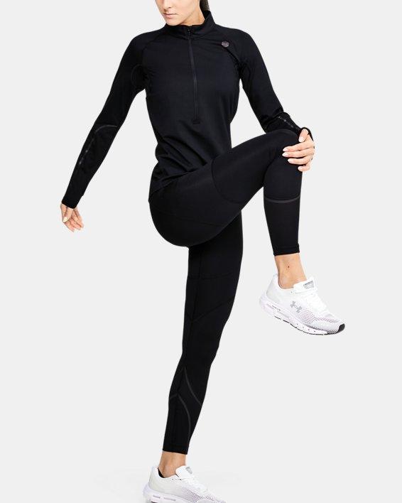 Women's UA RUSH™ ColdGear® Run Tights, Black, pdpMainDesktop image number 0