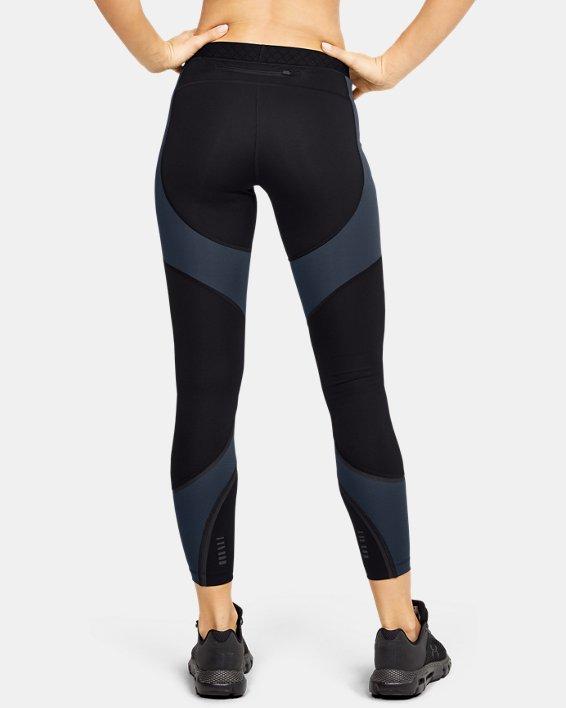 Women's UA RUSH™ ColdGear® Run Tights, Black, pdpMainDesktop image number 2