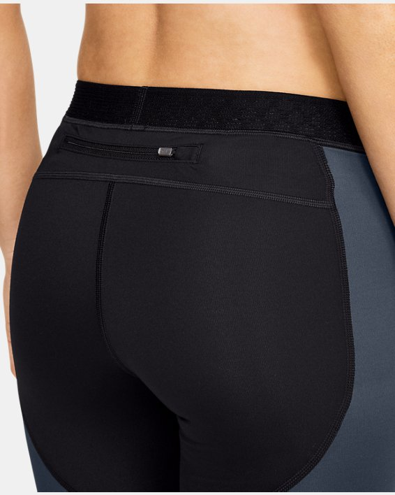 Women's UA RUSH™ ColdGear® Run Tights, Black, pdpMainDesktop image number 6