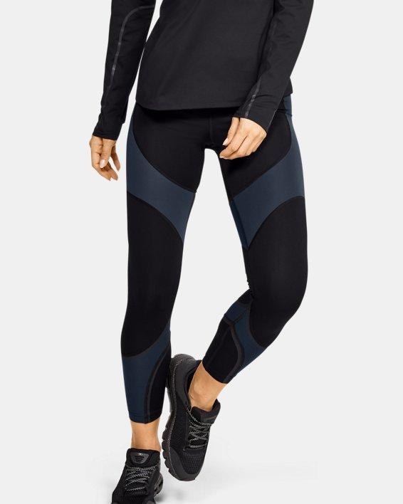 Women's UA RUSH™ ColdGear® Run Tights, Black, pdpMainDesktop image number 1