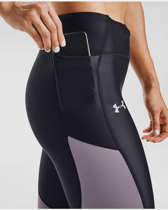 Women's UA Speed Stride Tights, Purple, pdpMainDesktop image number 3