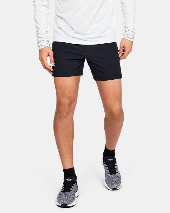Men's UA Speedpocket Linerless 7'' Shorts, Black, pdpMainDesktop image number 0