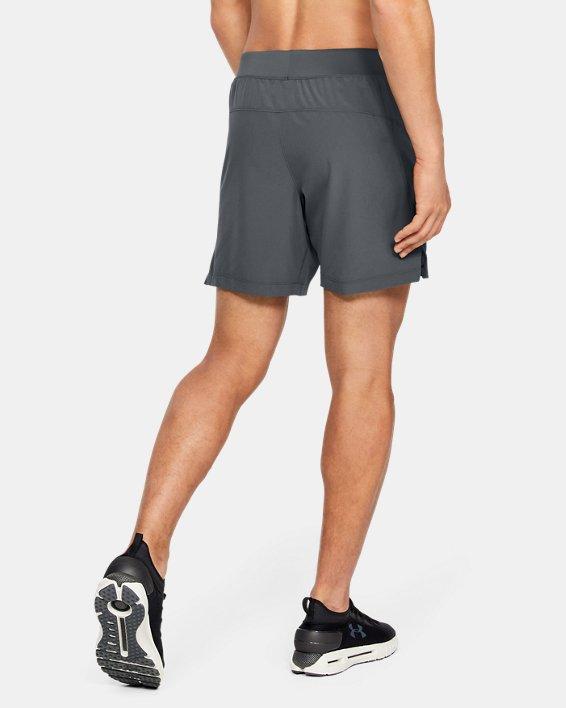 Men's UA Speedpocket Linerless 7'' Shorts, Gray, pdpMainDesktop image number 2