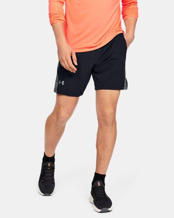 Men's UA Speedpocket Linerless 9'' Shorts, Black, pdpMainDesktop image number 0
