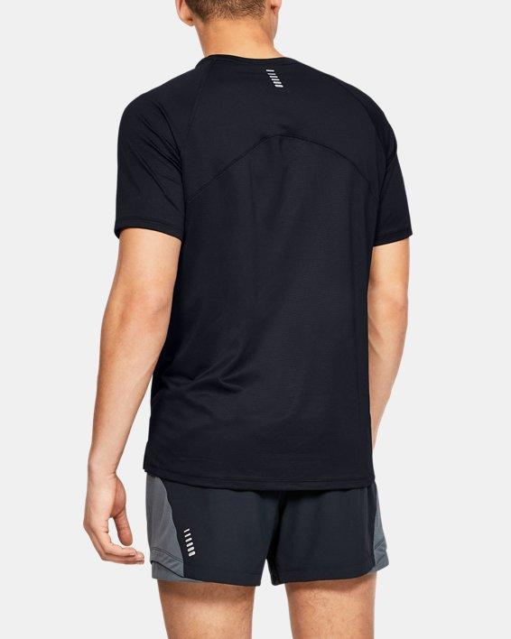 Men's UA Qualifier Glare Short Sleeve, Black, pdpMainDesktop image number 2