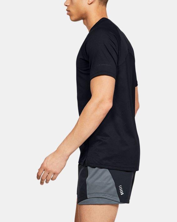 Men's UA Qualifier Glare Short Sleeve, Black, pdpMainDesktop image number 3