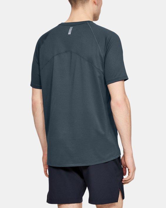 Men's UA Qualifier Glare Short Sleeve, Gray, pdpMainDesktop image number 2