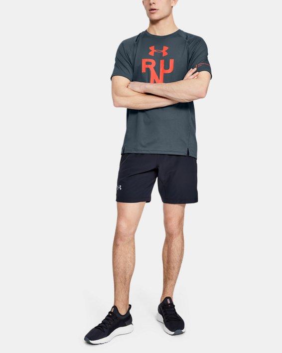 Men's UA Qualifier Glare Short Sleeve, Gray, pdpMainDesktop image number 0