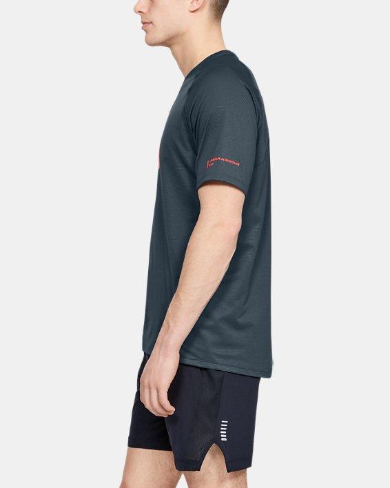 Men's UA Qualifier Glare Short Sleeve, Gray, pdpMainDesktop image number 3