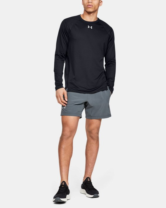 Men's UA Qualifier Long Sleeve, Black, pdpMainDesktop image number 1