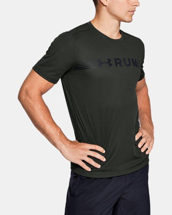 Men's UA Run Warped Short Sleeve, Green, pdpMainDesktop image number 0