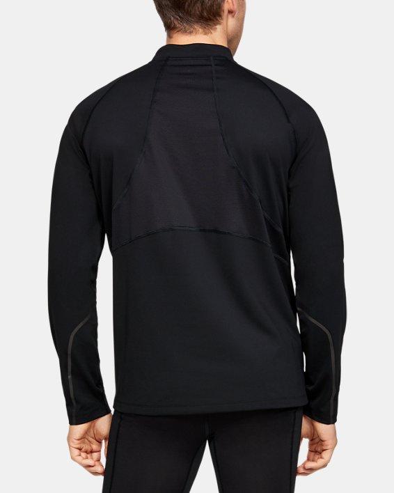 Men's UA RUSH™ ColdGear® Run ½ Zip, Black, pdpMainDesktop image number 2