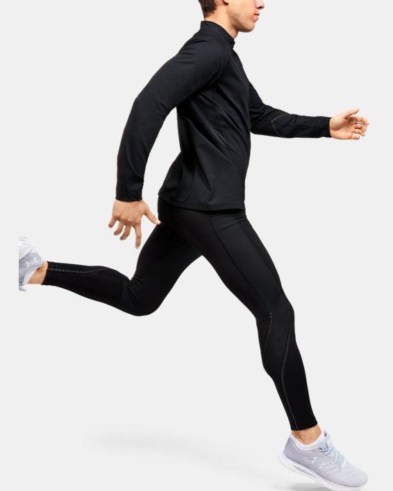 Men's UA RUSH™ ColdGear® Run ½ Zip, Black, pdpMainDesktop image number 1