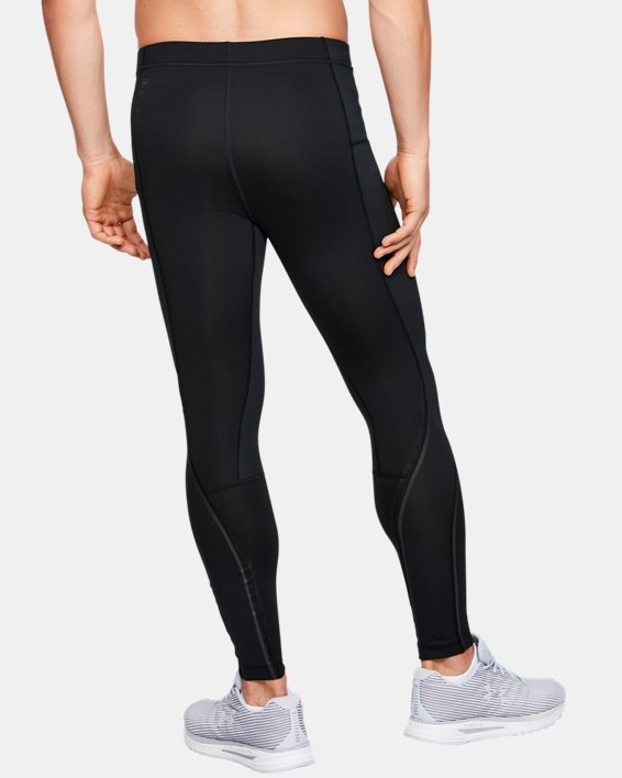 Men's UA RUSH™ ColdGear® Run Tights, Black, pdpMainDesktop image number 2