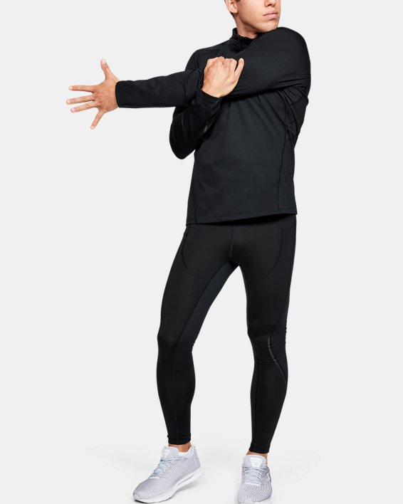 Men's UA RUSH™ ColdGear® Run Tights, Black, pdpMainDesktop image number 1