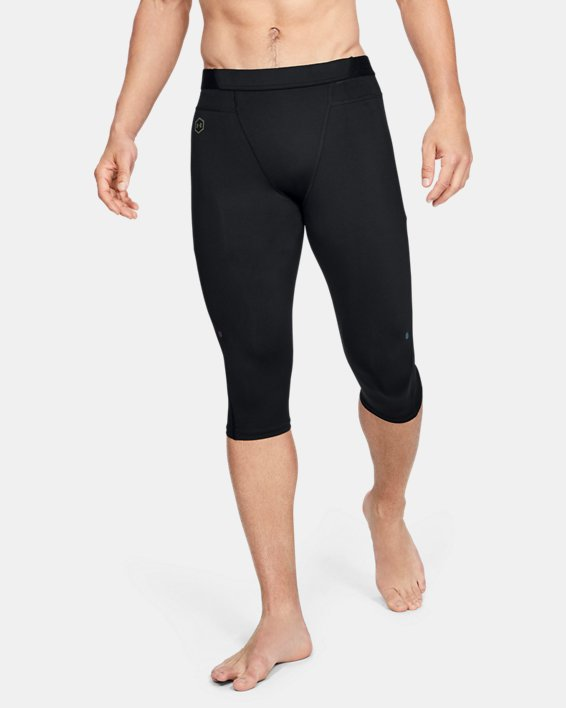 Men's UA RUSH™ Select Knee Tights, Black, pdpMainDesktop image number 0