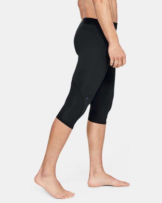 Men's UA RUSH™ Select Knee Tights, Black, pdpMainDesktop image number 3